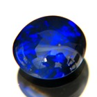N1 black untreated welo opal in round cabochon from lightning ridge in finest blue