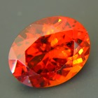 dark shiny red-orange hessonite from Sri Lanka with IGI report