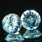 matching pair of unheated aquamarine