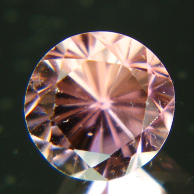 pink tourmaline round brilliant cut in germany