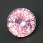 pink round brilliant from Ceylon, unheated and natural in near 7mm