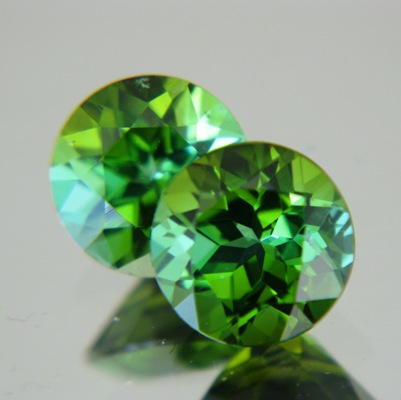 Mint green pair of Afghani tourmaline
