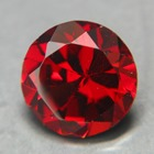 mix garnet from sri lanka free of treatments, 7mm round, clean and pure red