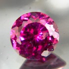 unheated deep pink-red purple pear rhodolite from africa