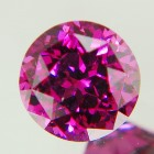 unheated round pink-red purple rhodolite from tanzania