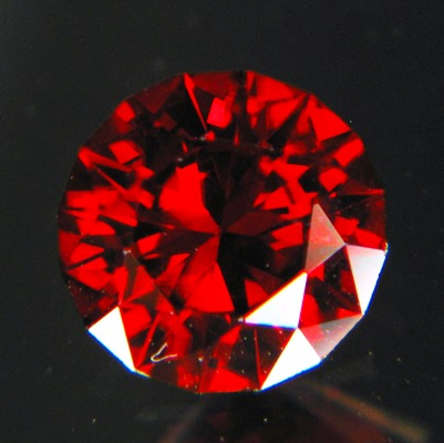 top class cut unheated red-orange zircon from Sri Lanka in red brilliant