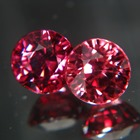 matching pair round brilliant red zircons for bespoke jewelry