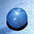 untreated natural blue star sapphire cabochon from Sri Lanka over one carat good star, weak color