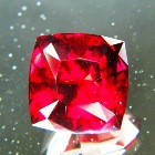 South African Rhodolite Garnet precision cut in dark red