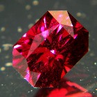 unheated deep red purple rhodolite from africa in precision cut