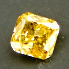 square excellent cut brilliant vivid yellow diamond without artificially coloring