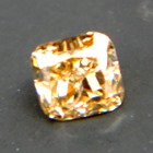 square cut brilliant orange pumpkin intense diamond without artificially coloring in 14 points size