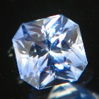 light blue yellow zoned precision cut extra brilliant sapphire from Ceylon, unheated and natural, no