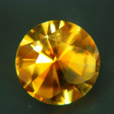 Deep orange yellow citrine unheated from Brazil