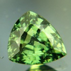 Well saturated green sapphire untreated