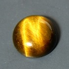 natural tiger's eye gemstone opaque with golden ray
