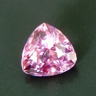 pink spinel from kashmir free of treatments, pear