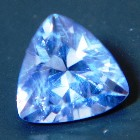 blue precision cut extra brilliant sapphire from Ceylon, unheated and natural, no window, IGI report