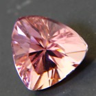 orange pink precision cut extra brilliant trillion rubellite from Ceylon, unheated and natural, no w