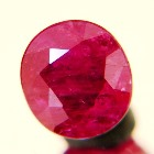 hot pink Ceylon sapphire without inclusions or treatments oval hot pin-purple