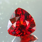 Deep orange red Mozambique spessartite