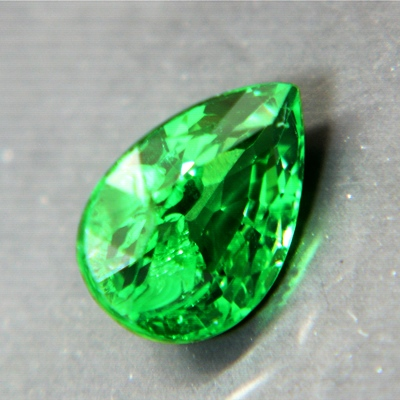 oval Tsavorite unheated and natural in good cutting and finest natural green