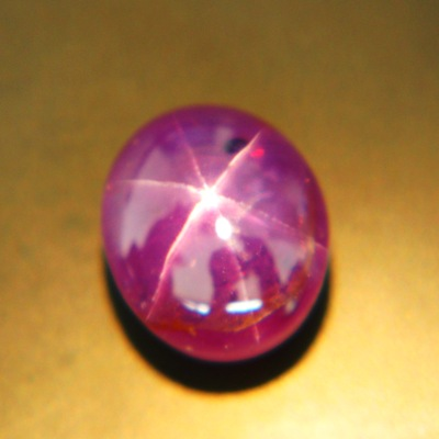 Reddish purple violet Ceylon star Sapphire