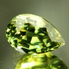 pear shaped green sapphire unheated