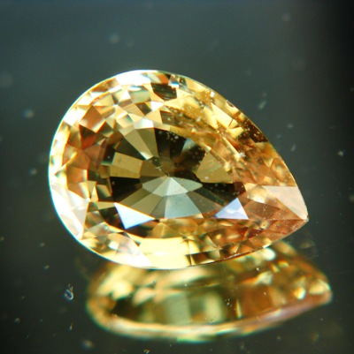 Golden yellow African sapphire
