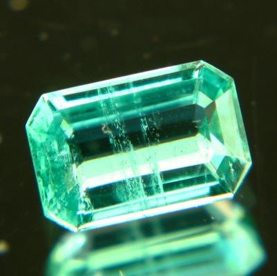 emerald-cut sandawana emerald very clean