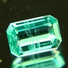 emerald-cut sandawana emerald very clean