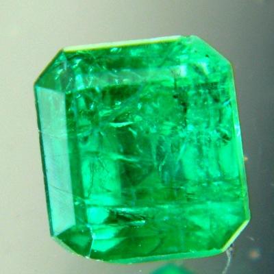 untreated zimbabwe emerald vivid green square