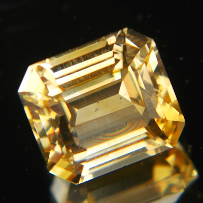 citrine inclusions or treatments in emerald cut and IGI report