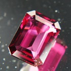 emerald cut red garnet unheated rhodolite