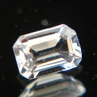 emerald cut extra white topaz from Brazil, unheated and natural, no window