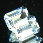 Aqua white pair of Ceylon topaz