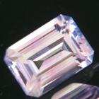 emerald cut pink Ceylon sapphire untreated