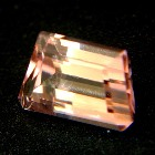 pink rubellite without inclusions or treatments trapezoid emerald cut in unique shape