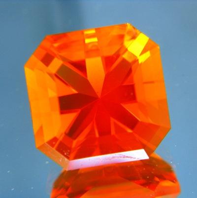 fire orange opal