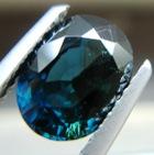 Deep ultramarine blue African sapphire