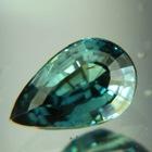 Multicolor blue green Tanzanian sapphire