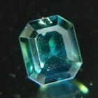 green blue emerald cut sapphire from Australia, unheated and natural, no window, IGI report 3nos of