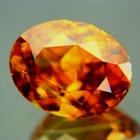 Rainbow in gold African titanite