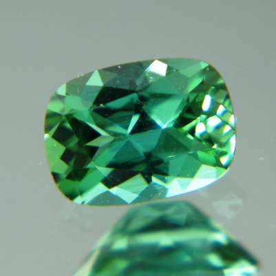 precision cut mint tourmaline