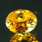 Rock-solid golden yellow Mozambique Tourmaline