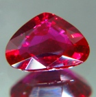 heart shape red ruby no heat not treated