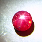 Bordeaux red Indian Star Ruby