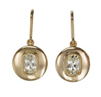 beautiful elegant earrings with a pair of white natural sapphires