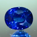 cosmic blue oval shape sapphire natural unheated