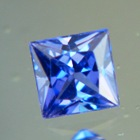 unheated princess cut blue sapphire